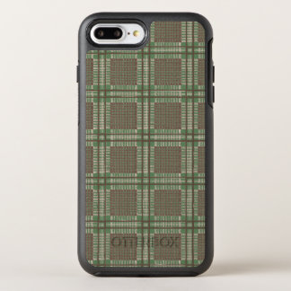 Plaid green and brown OtterBox symmetry iPhone 8 plus/7 plus case