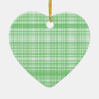 Plaid Green Christmas Ornament