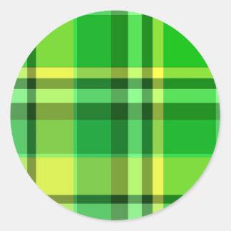 Plaid Green Yellow Sticker