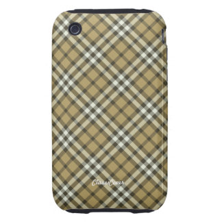 Plaid Harvest Yellow Case Mate Tough iPhone 3 Cover