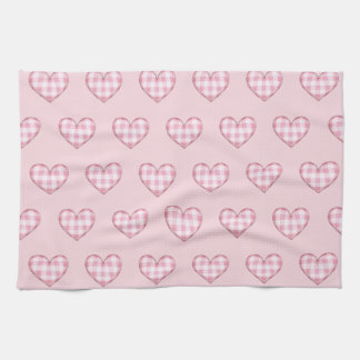 Plaid Heart 3D Tea Towel