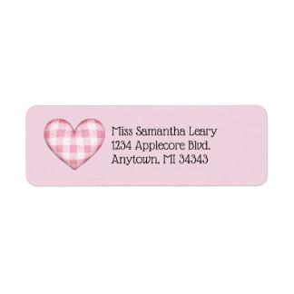 Plaid Heart 3D with Custom Text