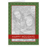 Plaid Holdiay Template Greeting Cards