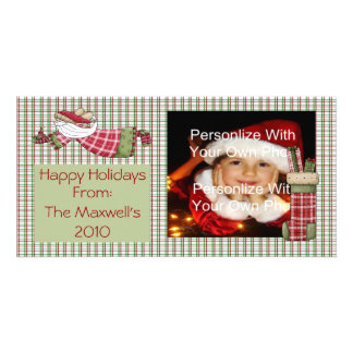 Plaid Holiday Wishes Photo Card