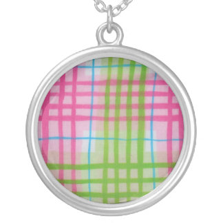 Plaid Hot Easter Colors Custom Necklace