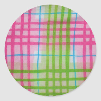Plaid Hot Easter Colors Stickers