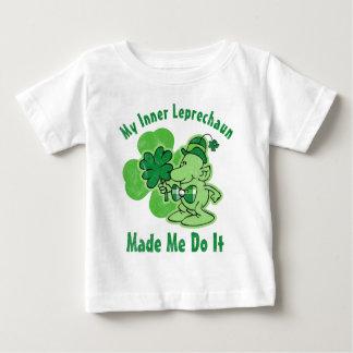 Plaid Inner Leprechaun Baby T-Shirt