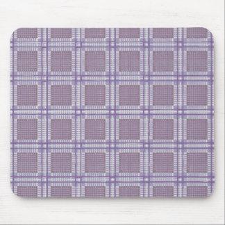 Plaid lavender, plum and purple mouse pad