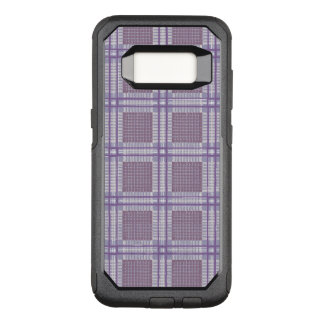 Plaid lavender, plum and purple OtterBox commuter samsung galaxy s8 case