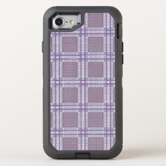 Plaid lavender, plum and purple OtterBox defender iPhone 8/7 case