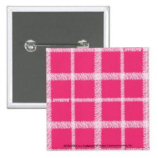 Plaid Magenta 15 Cm Square Badge