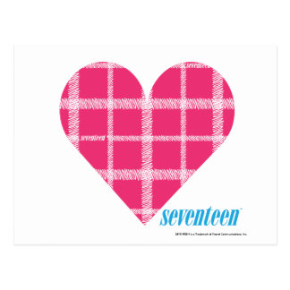 Plaid Magenta 2 Postcard