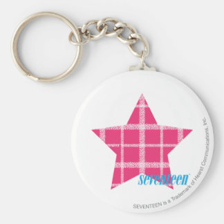 Plaid Magenta 3 Key Ring