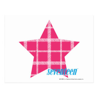 Plaid Magenta 3 Postcard
