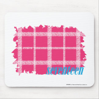 Plaid Magenta 4 Mouse Mat