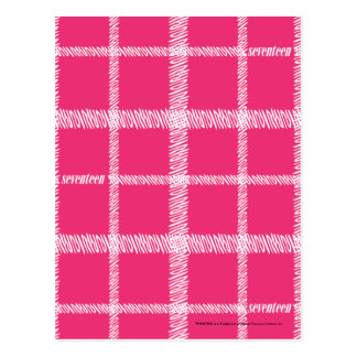 Plaid Magenta Postcard