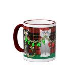 Plaid Merry Christmas Cat Mug