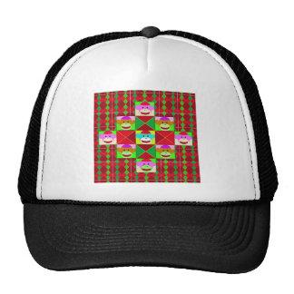 Plaid monkeys mesh hats
