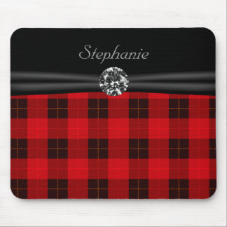 plaid mouse mat