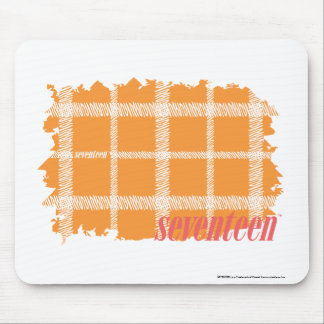 Plaid Orange 3 Mouse Mat