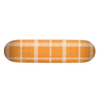 Plaid Orange Skate Decks