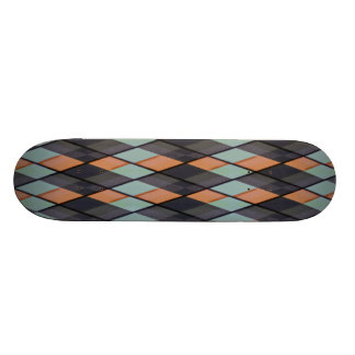 Plaid out skate board