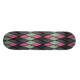 Plaid out skate board decks