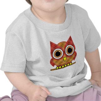 plaid owl t-shirt