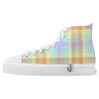 Plaid Pastel Rainbow hightops