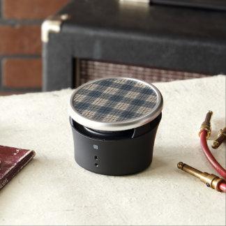 Plaid Pattern Blues Brown Cream Bluetooth Speaker