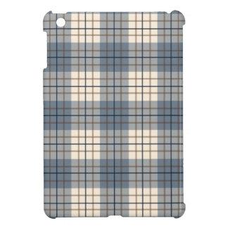 Plaid Pattern Blues Brown Cream iPad Mini Cases