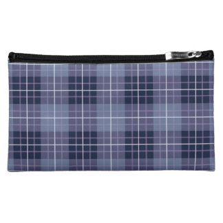 Plaid Pattern Blues & Purples Cosmetics Bags