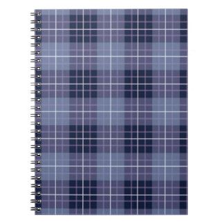 Plaid Pattern Blues & Purples Notebook