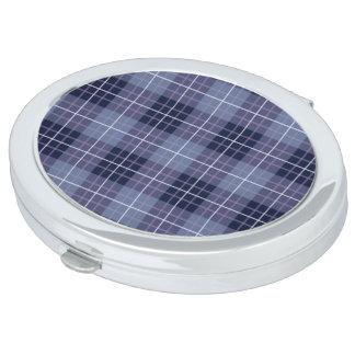 Plaid Pattern Blues & Purples Travel Mirrors