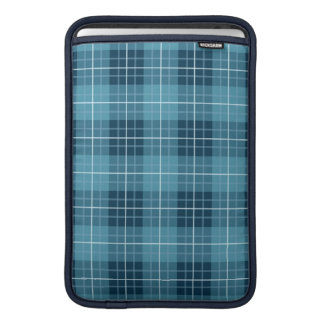 Plaid Pattern Blues Sleeve For MacBook Air