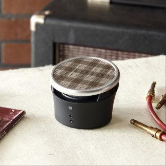 Plaid Pattern Browns & Cream Bluetooth Speaker