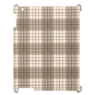 Plaid Pattern Browns & Cream Case For The iPad