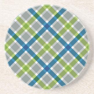 Plaid Pattern custom coaster