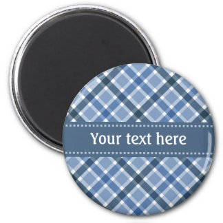 Plaid Pattern custom magnet