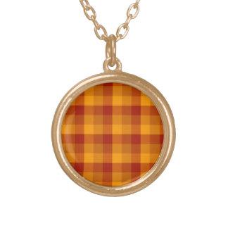 Plaid Pattern custom necklace