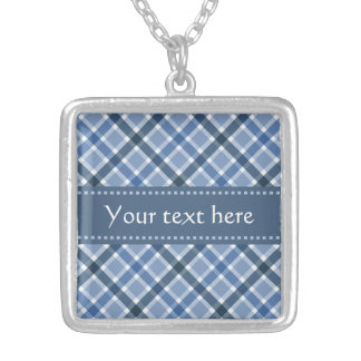 Plaid Pattern custom necklace