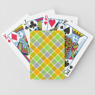 Plaid Pattern custom playing cards