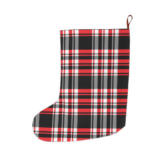 Plaid Pattern Large Christmas Stocking