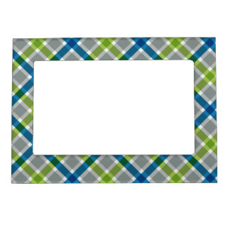 Plaid Pattern picture frame Magnetic Photo Frames