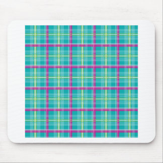 Plaid-Pattern-Pink-Blue-Background Mouse Pad