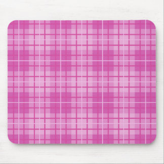 Plaid Pattern Pinks Mouse Mat