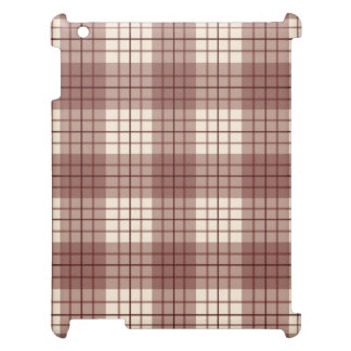 Plaid Pattern Reds & Cream Cover For The iPad