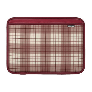 Plaid Pattern Reds & Cream Sleeve For MacBook Air