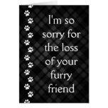 plaid paws pet loss sympathy card