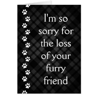 plaid paws pet loss sympathy card